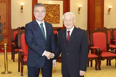 Tổng bí thư, Chủ tịch nước gửi điện mừng quốc khánh Hàn Quốc