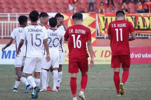 Thua khó tin Campuchia, U18 Việt Nam bị loại từ vòng bảng