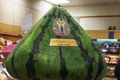 24 triệu một quả dưa hấu hình kim tự tháp ở Nhật
