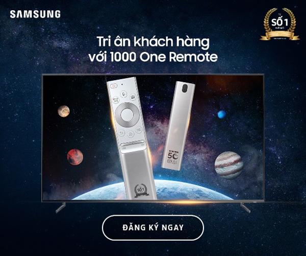 1000 One Remote Samsung chạm khắc độc quyền tặng người dùng Việt