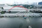 Ngắm từ trên cao cầu đường sắt 117 năm tuổi ở Sài Gòn sắp tháo dỡ