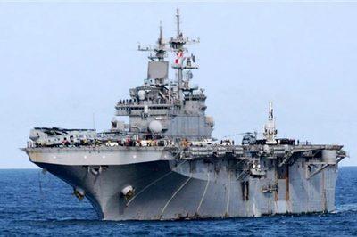 Điểm lạ trên tàu tấn công Mỹ điều đến Vùng Vịnh đối phó Iran