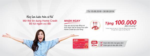 Nhận ngàn ưu đãi với thẻ tín dụng Home Credit