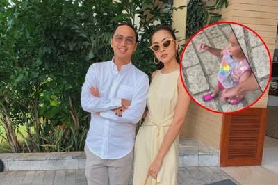 Tăng Thanh Hà lần đầu để lộ mặt con gái cùng chồng đại gia