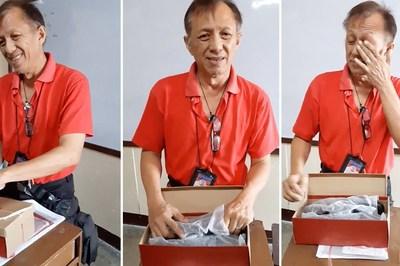 Món quà bất ngờ của học sinh khiến thầy giáo nghèo cảm động