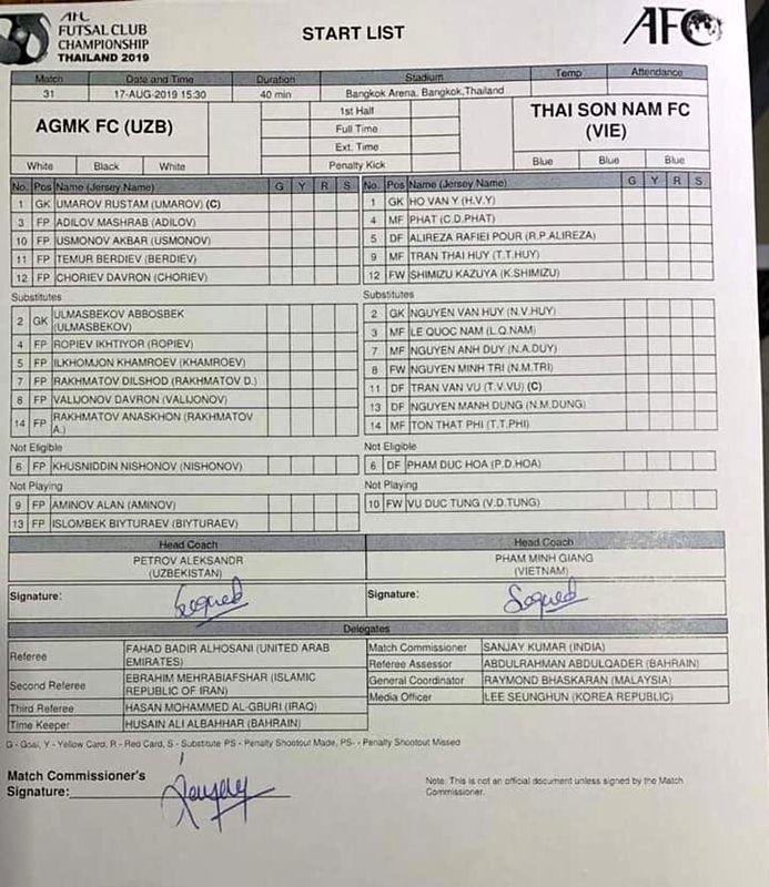 Thái Sơn Nam vs AGMK,Thái Sơn Nam