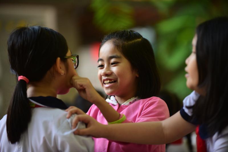 Nụ cười ngày tựu trường của học sinh TP.HCM