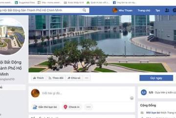 Giả mạo Facebook Hiệp hội Bất động sản rao bán đất