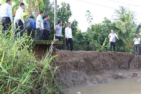 Land erosion in the Mekong Delta must be carefully considered