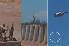 Xem trực thăng Ấn Độ cứu người kẹt giữa lũ dữ