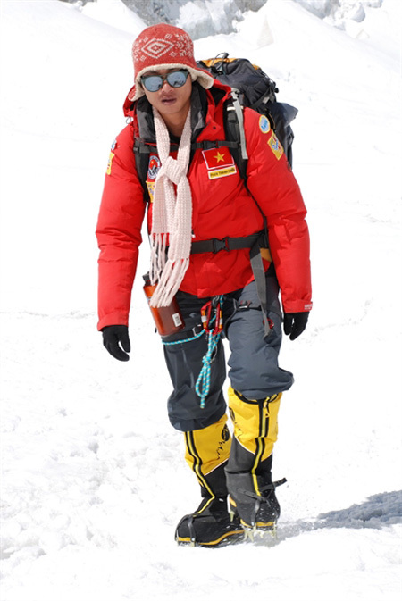Phan Thanh Nhien,conquer Everest in 2008,the youngest Vietnamese,SEA Games 26,entertainment news,what's on,Vietnam culture,Vietnam tradition,vn news,Vietnam beauty,Vietnam news,vietnamnet news,vietnamnet bridge,Vietnamese newspaper,Vietnam latest news