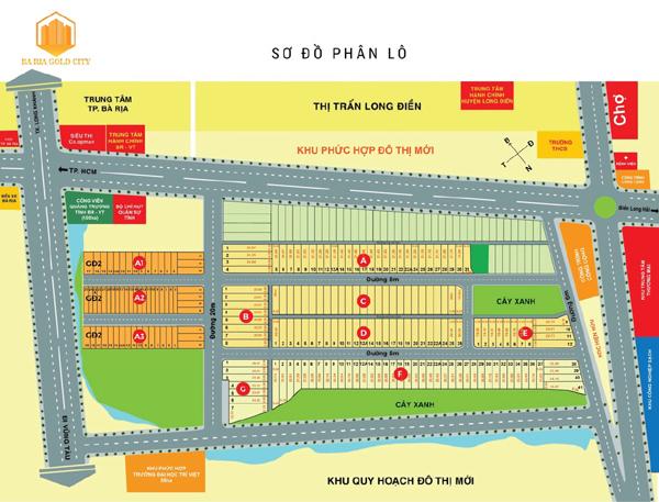 Bà Rịa Gold City - tâm điểm BĐS mới ở Long Điền