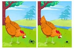 Tìm 8 điểm khác nhau giữa hai bức tranh