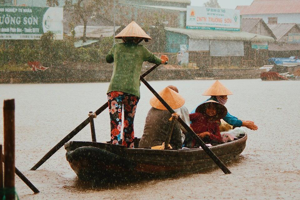 Nga Nam floating market,western region,Mekong Delta,Soc Trang,Lunar New Year