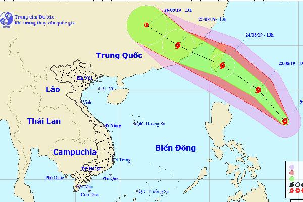 Bão Bailu giật cấp 11 áp sát Biển Đông, miền Bắc mưa to
