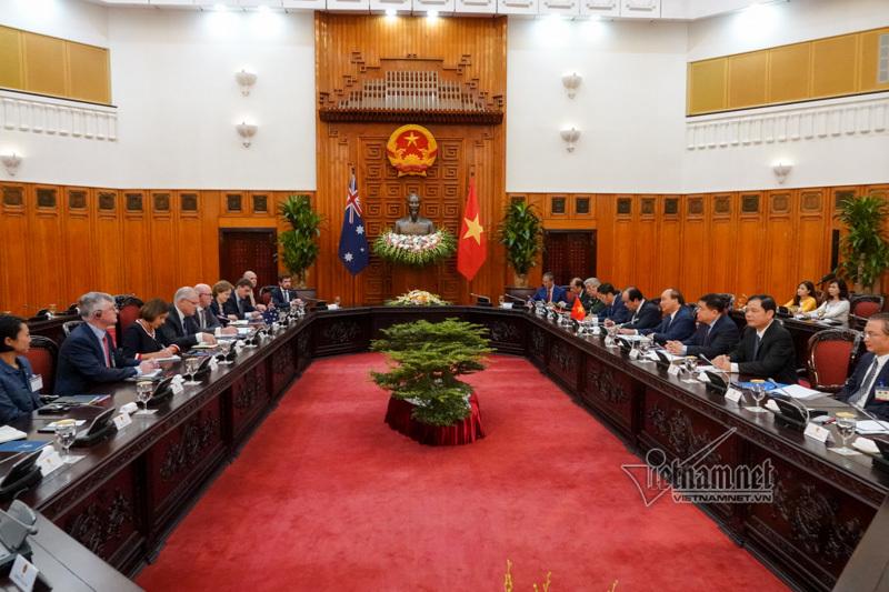 Biển Đông trong cuộc hội đàm giữa hai Thủ tướng Việt Nam và Australia
