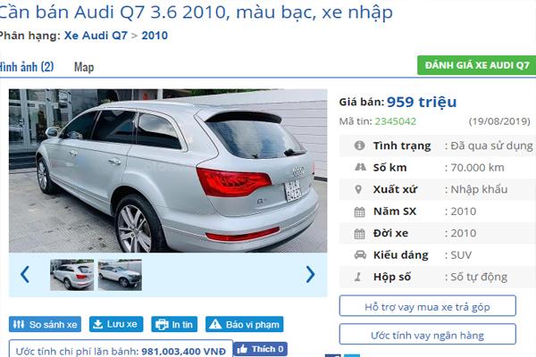 SUV cũ hạng sang,SUV hạng sang,xe cũ,giá xe SUV,Audi,Lexus