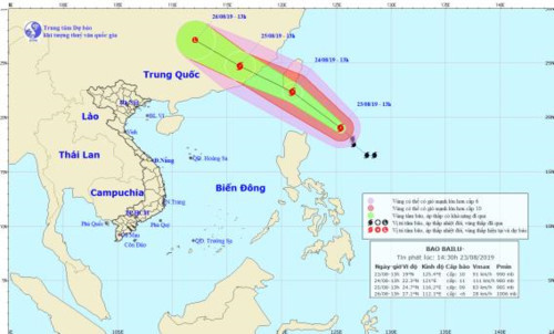 Typhoon Bailu forms near East Sea