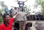 Máy gặt lúa của người dân Quảng Trị bị kẻ xấu đốt trơ khung