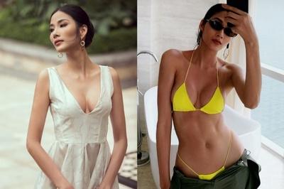 Hoàng Thùy nâng ngực để dự thi Hoa hậu Hoàn vũ 2019?