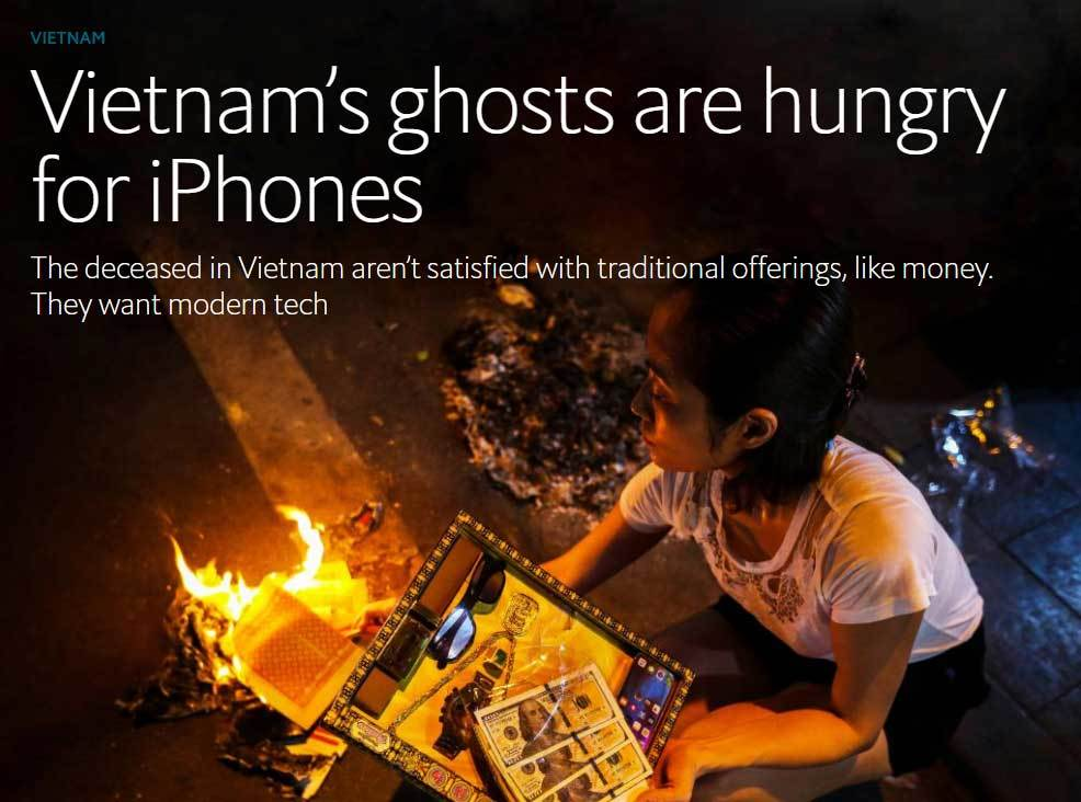 Báo Tây sửng sốt vì 'đồ xa xỉ' dành cho các 'vong hồn' ở VN