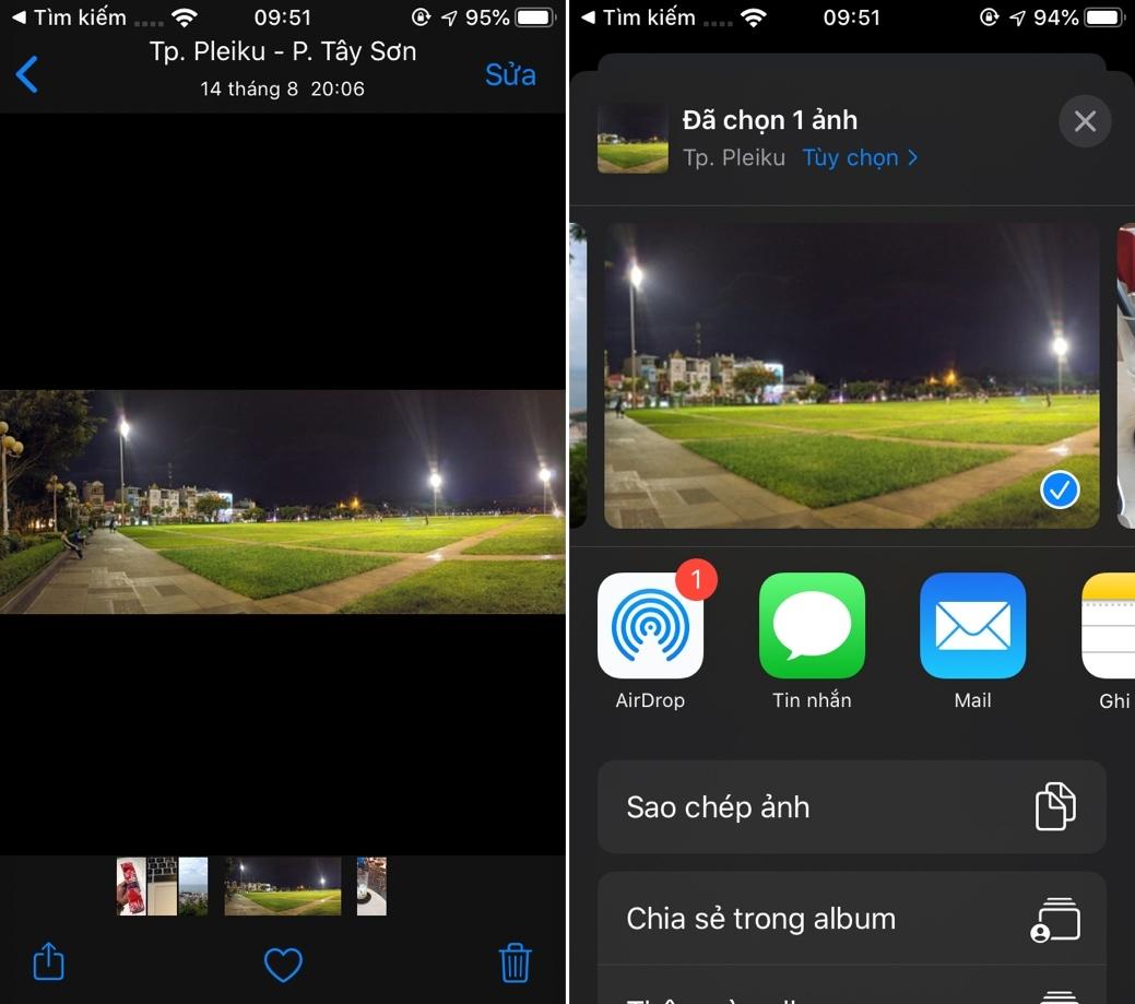Cách chia sẻ ảnh và video không kèm dữ liệu vị trí trên iOS 13, iPadOS 13