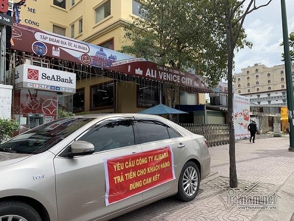 """Khách hàng đến đòi tiền, lãnh đạo Địa ốc Alibaba """"lặn mất tăm"""""""