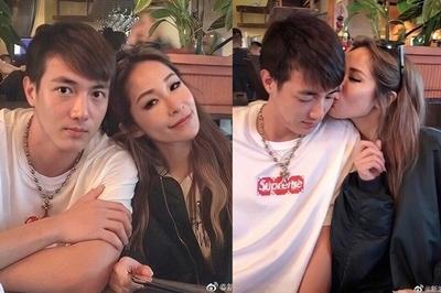 Diva Đài Loan hôn bồ trẻ kém 16 tuổi trên phố