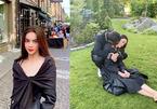 Kim Lý hôn lên cổ Hồ Ngọc Hà khi đi du lịch ở Thuỵ Điển