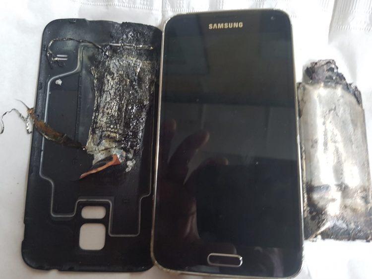 Smartphone phát nổ,Galaxy S5,Điện thoại Samsung