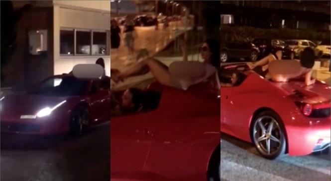 Khỏa thân lộ liễu trên nóc siêu xe Ferrari, cô gái bị phạt nặng