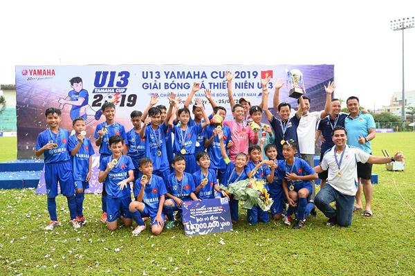 Sôi động giải bóng đá thiếu niên U13 Yamaha Cup 2019