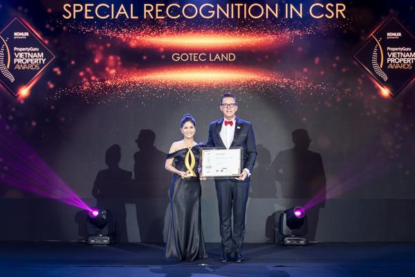 Gotec Land ghi dấu ấn với giải thưởng vì cộng đồng