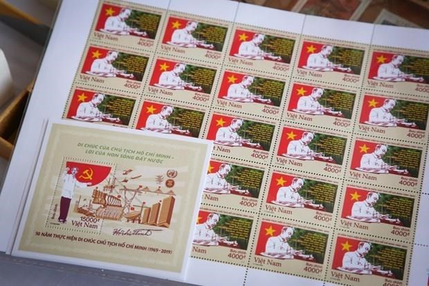 Stamps issued to mark 50 years of President Ho Chi Minh's testament