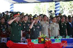 Việt Nam - Campuchia tuần tra chung biên giới và diễn tập chống tội phạm ma tuý