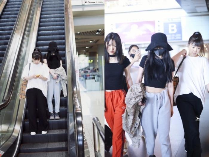 Dương Mịch khoe vóc dáng thon gọn nổi bật ở sân bay