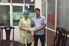 Trao hơn 26 triệu đồng đến bé Nguyễn Hải Nam bị bỏng nồi nước đậu