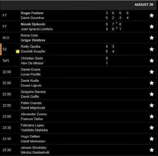 US Open 2019,Federer