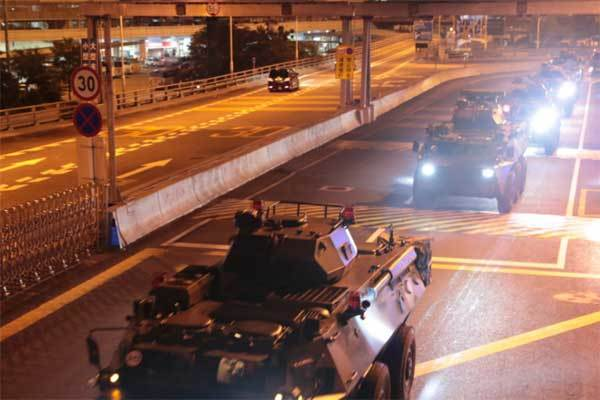 chuyển quân,Trung Quốc,Hong Kong,biểu tình