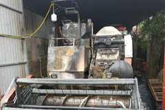 Máy gặt lúa mới mua 312 triệu của bí thư thôn ở Thanh Hóa bị cháy rụi