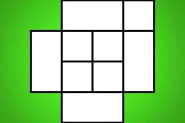 Trong 30 giây, hãy tìm tất cả số hình vuông có trong hình