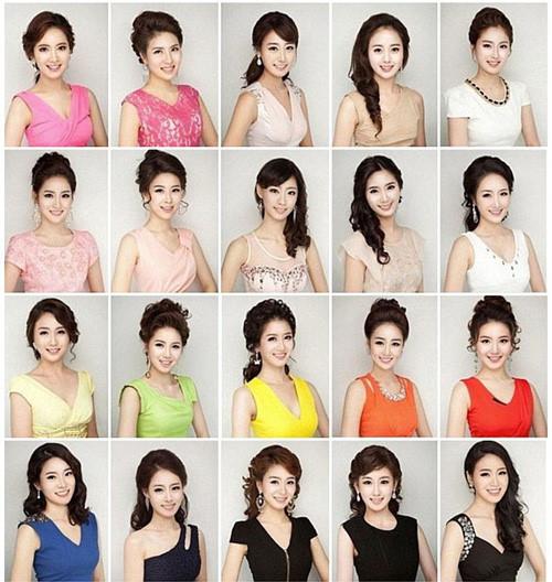 Dàn thí sinh Hoa hậu Hàn Quốc gây tranh cãi vì giống nhau như đúc