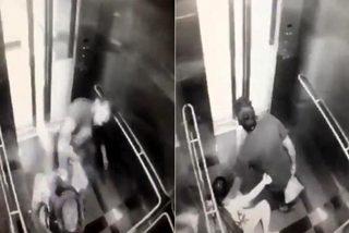 Video cướp táo tợn trong thang máy ga tàu điện trên cao