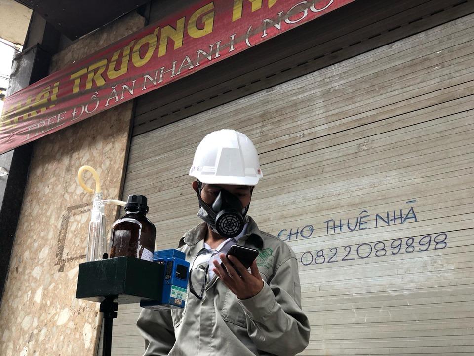 Hình ảnh đo chất lượng không khí xung quanh nhà máy Rạng Đông
