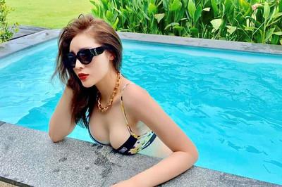 Hoa hậu Kỳ Duyên đã mặc loại bikini nào để tôn lên vòng một căng đầy?