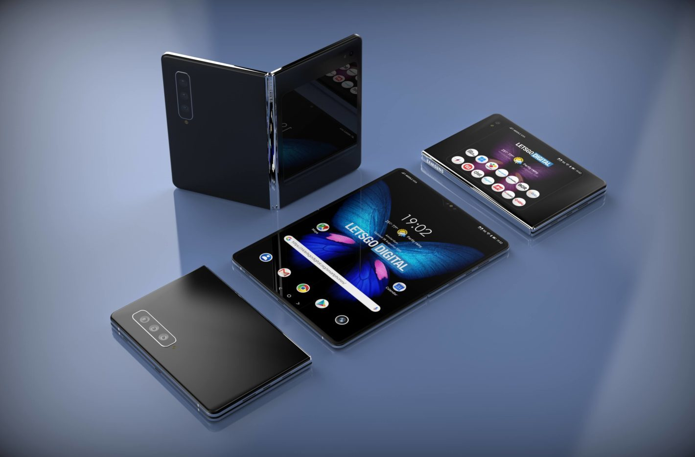 Tiết lộ đầu tiên về điện thoại màn hình gập Galaxy Fold 2