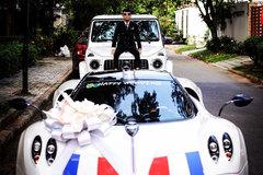 """Minh nhựa """"thay áo"""" siêu xe 80 tỷ phục vụ đám cưới con gái"""