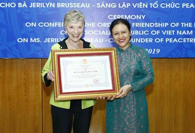 Friendship Order awarded to US's PeaceTrees Vietnam Founder