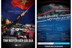 Tuyển 1000 tình nguyện viên điều hành chặng đua công thức 1 Việt Nam
