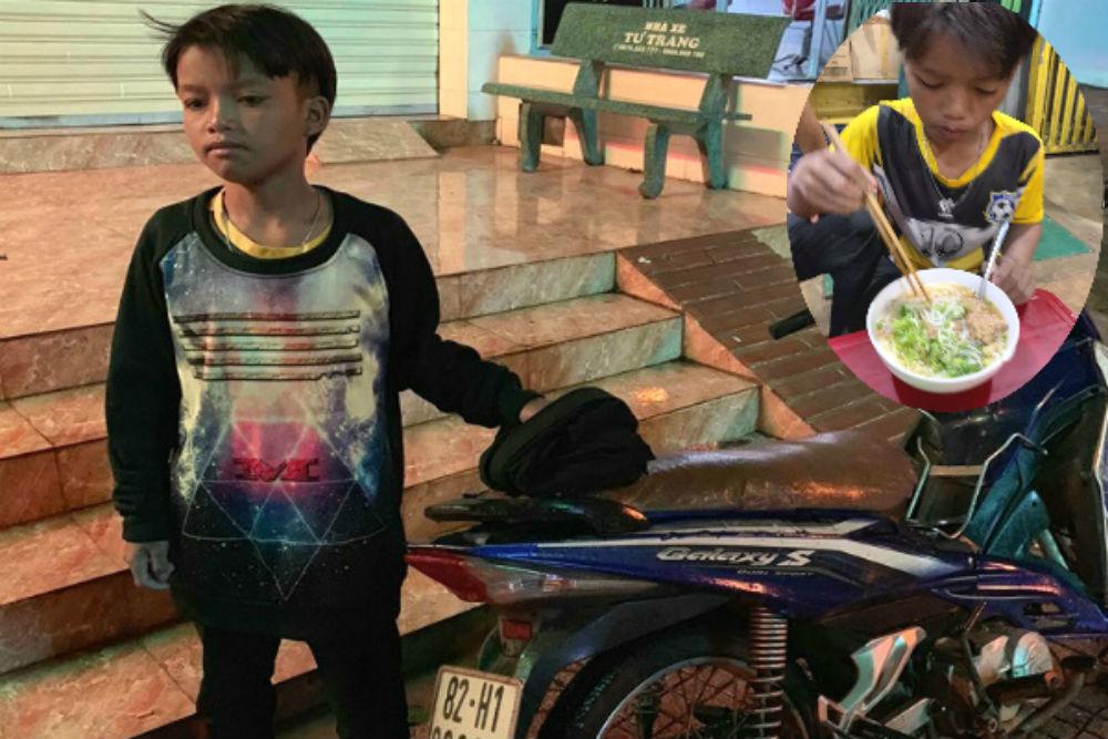 Bé trai chạy xe máy 300km từ Kon Tum sang Đắk Lắk được công an đưa về nhà